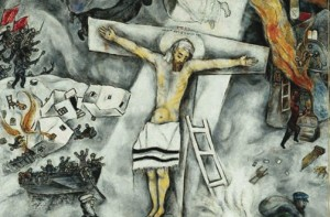 """""""White Crucifixion,"""" by Marc Chagall. Image via Wikimedia Commons."""