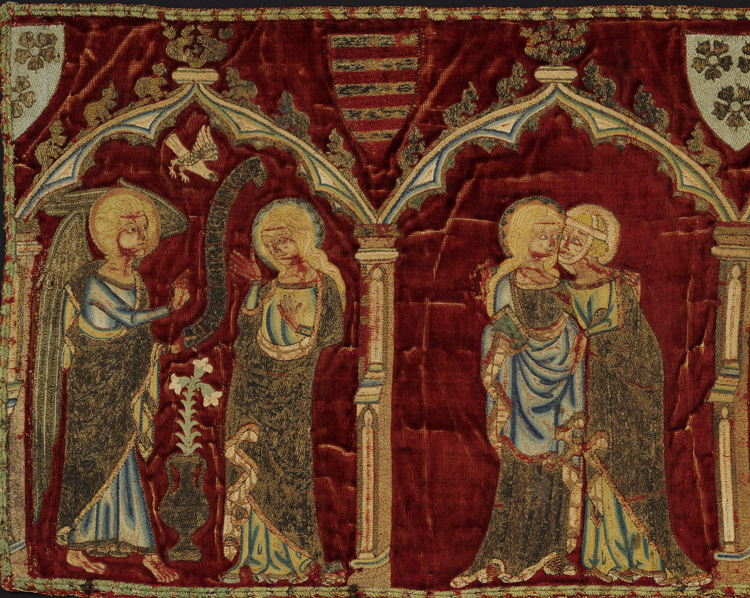 Panel depicting scenes from the life of the Virgin Mary, 1335-45.