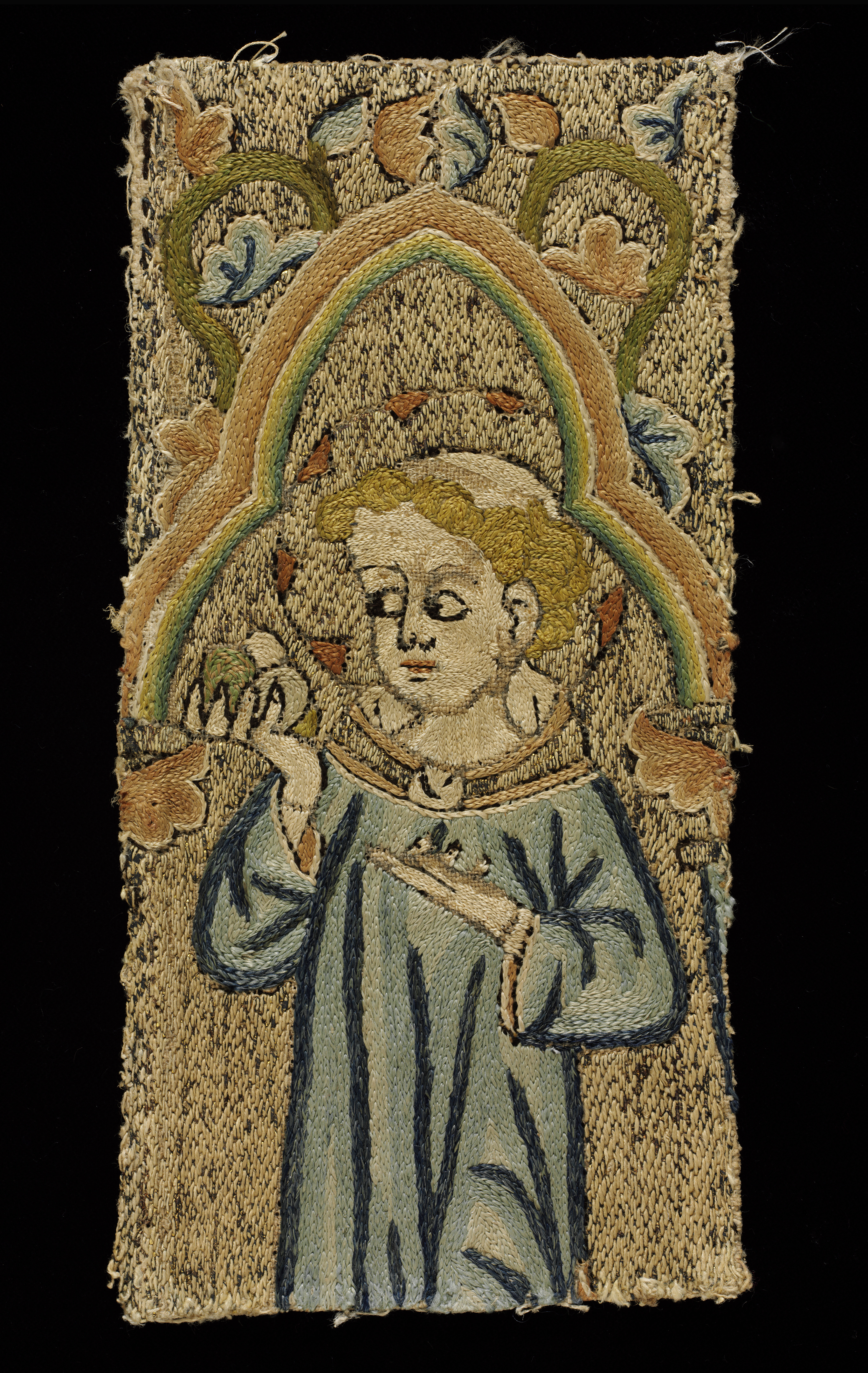 Orphrey panel fragment, ca. 1300
